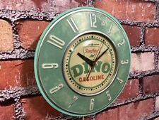 VTG GE SINCLAIR OIL-OLD GAS STATION ADVERTISING DINO DISPLAY WALL CLOCK SIGN