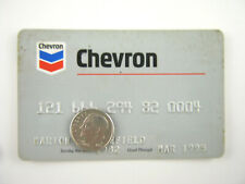 Vtg Chevron CREDIT CARD Gas Oil Service Station 1990s Petroliana General Store