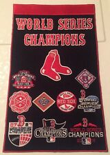 "Boston Red Sox 9X World Series Champions Banner MLB 14"" X 8.5"" 2004 2018"