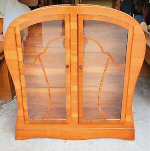 ART DECO WALNUT VENEERED DISPLAY CABINET    DELIVERY AVAILABLE