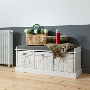 Hallway Bench Shoe Storage Entrance in Choice of Colours