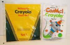 Vintage 1986 1987 McDonalds CRAYOLA & CosMc! CRAYOLA HAPPY MEAL in bag cosmic