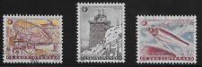 Czechoslovakia Scott #836-38, Singles 1957 Complete Set FVF Used