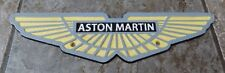 SUPERB HEAVY CAST IRON ASTON MARTIN WINGS SIGN PLAQUE 4 COLOUR 33cm x 8cm