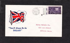 WWII Patriotic British Flag Always An England New York 1944 Cover z61