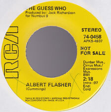 Guess Who Albert Flasher / Broken Promo USA 45 With Out Picture Sleeve