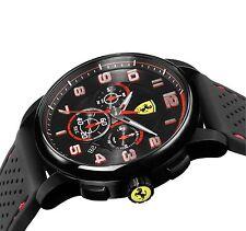 Men's Scuderia Ferrari Heritage 830063 Chronograph Black Red Watch Auto d'Epoca