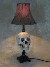 Skull Desk Lamp, Halloween Prop, Human Skulls NEW