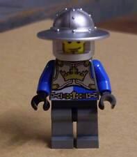 Lego Ritter Figur King's Knight blau silber grau mit Kronensymbol Castle Neu