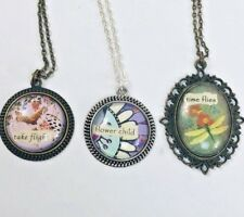 Pendant Necklaces Women's Jewelry Lot of 3 w/ quote Antique Style
