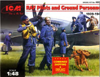 ICM 48081 - 1/48 Raf Pilots and Ground personnel (1939-1945) WWII, plastic model