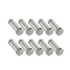 """Set of Ten 1"""" Hex Top Tattoo Machine Coil Cores Polished Fatty 5/16"""" Steel Parts"""