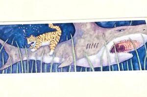 "Jonathan Heath PRINT  ""SHARK ATTACK"" TIGER CAT Limited Edition 45/1000 funny"