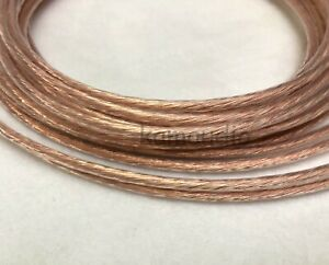 Vanguard 13 AWG 2.5mm² OCC Copper Hook Up Wire Ø 2.4mm Audio Cable Hi Fi