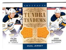 NHL Trading Cards---Double-Jersey Card--Myers--Hodgson---Buffalo Sabres