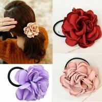 Women Flower Hair Band Ties Elastic Rope Scrunchie Ponytail Holder Hair Ring