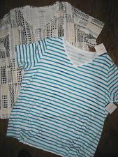 New lot womens plus size tops 4X short sleeve cotton Croft & Barrow classic tee