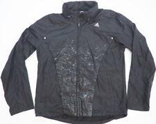 Mens ADIDAS Black Lightweight Rain Jacket with Shiny Splatter Accents - Sz L