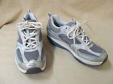 Used Women's 7.5 M Skechers #12320 Silver & Blue Shape-Ups Athletic Sneakers