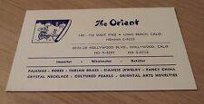 "1930's ADVERTISING Card~""The ORIENT"" Hollywood/Long Beach CA~Imports/Jewelry~"