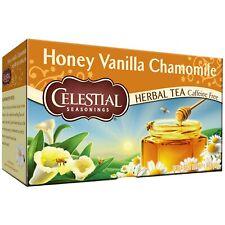 Celestial Seasonings Herbal Tea Honey Vanilla Chamomile-20 Bags Caffeine Free!!!
