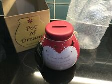 Pot of Dreams Money Pot NEW Boxed Hand Decorated Red Sparkly Love Spec Edition