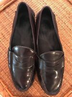 Mens Sperry Leather Dark Brown Penny Loafers Slip On Size 12 Medium