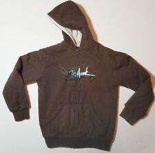 Tony Hawk Youth Brown Lined Full Zip Hoodie Logo Jacket Coat Size Medium (10/12)