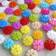 Pkg of 20 FLOWER Plastic Buttons 1/2