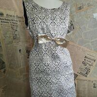 Vintage 1950's ladies gold brocade cocktail dress