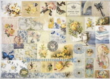 Rice Paper for Decoupage Scrapbook Craft Sheet-  Montage of flowers