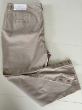 New Ann Taylor LOFT Capri/Crop Pant Khaki Size 8 Cotton Blend Casual Flat Front