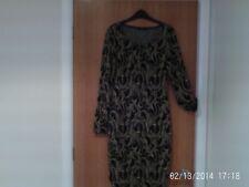 LADIES  GOLD/BLACK   DRESS  SIZE  12   NEW