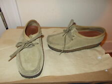 CLARKS ORIGINALS WALLABEE WOMEN'S SHOES-SIZE 7-TAN SUEDE LEATHER-PREOWNED-CLASSI