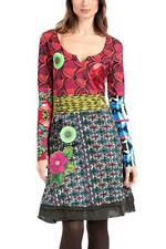 Desigual brand. Long sleeve multi-color dress with floral print. US size small.