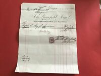 Lancefield Forge Co Manufacturers Finishers  1883 Glasgow receipt R33460