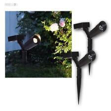 Solar Powerspot 2er Pack, Gartenstrahler Spot 15 Lumen LED warmweiß Strahler