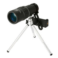 HD 16X52 Day & Night Vision Optical Monocular Telescope +Phone Clip Tripod