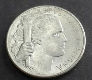 Error Italy 1950 5 Lira coins die doubling