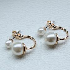 Coquille d'or doux perles Design oreille Stud boucles d'oreilles bijoux cadeaux
