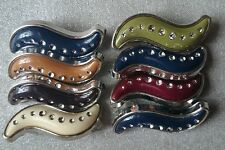 DIAMANTE SNAG FREE SAFETY PINS / HIJAB / SCARF/ ASSORTED COLOURS /8PINS