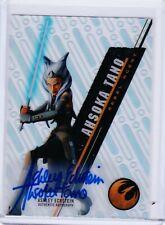 2016 Star Wars High Tek Ashley Eckstein as Ahsoka Tano Autograph Auto