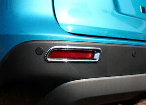 Chrome Rear Fog Light Lamp Decor Trim 2PCS for Suzuki Vitara Escudo 2015-2018