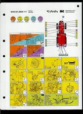 Kubota M5N-091 M5N-111 Tractor Orig Factory Laminated Maintenance Chart Fluids