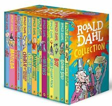 Roald Dahl Collection16 Book Box Set BFG Matilda Witches Going Solo Free UK Post