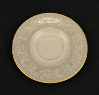 Franciscan Grey Renaissance Masterpiece China Saucer Ivory & Grey With Gold Trim