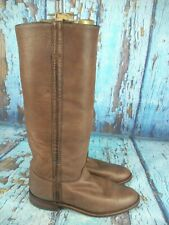 Justin L3851 Brown Leather Tall Roper Riding Boots Women's Size: 6.5 B