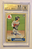 2017 Topps '87 Retro Autograph Andrew Benintendi RC BGS 9.5 GEM MINT Red Sox