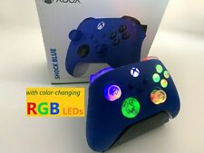 Limited Edition Blue Xbox One Series X S Controller w LED MOD iPhone Android PC