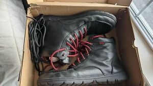 Lems Black Boulder Leather Boot Minimalist Hiking Mens 47 fits like 12 Great UC!
